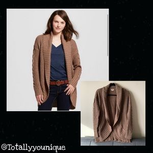 Mossimo Cable Knit Open Front Cardigan